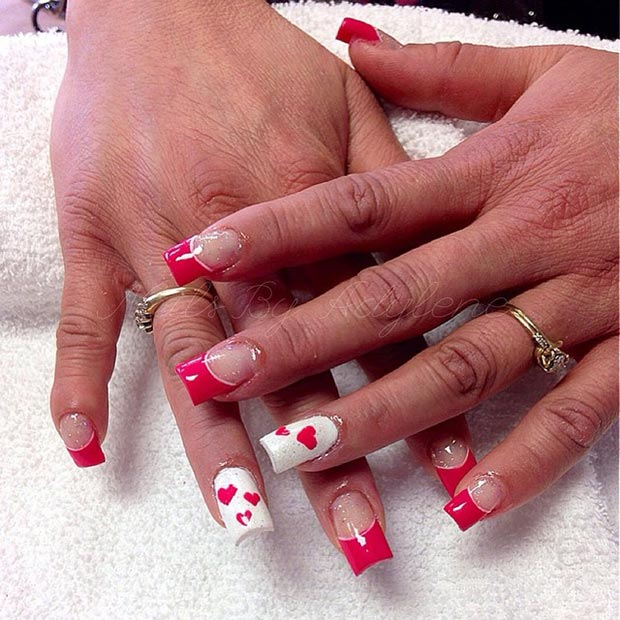 21 Red and White Nail Design