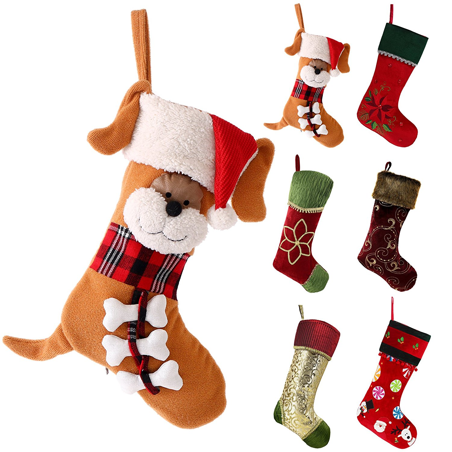21 Valery Madelyn 18 Inch Joyful Pet Christmas Stocking