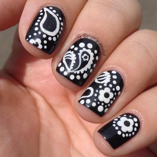 22 Interesting Floral Nails