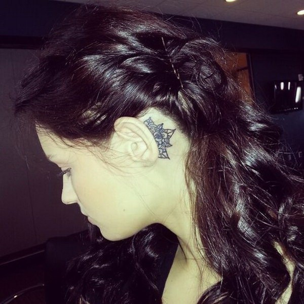 22 Mandala Tattoo Behind The Ear