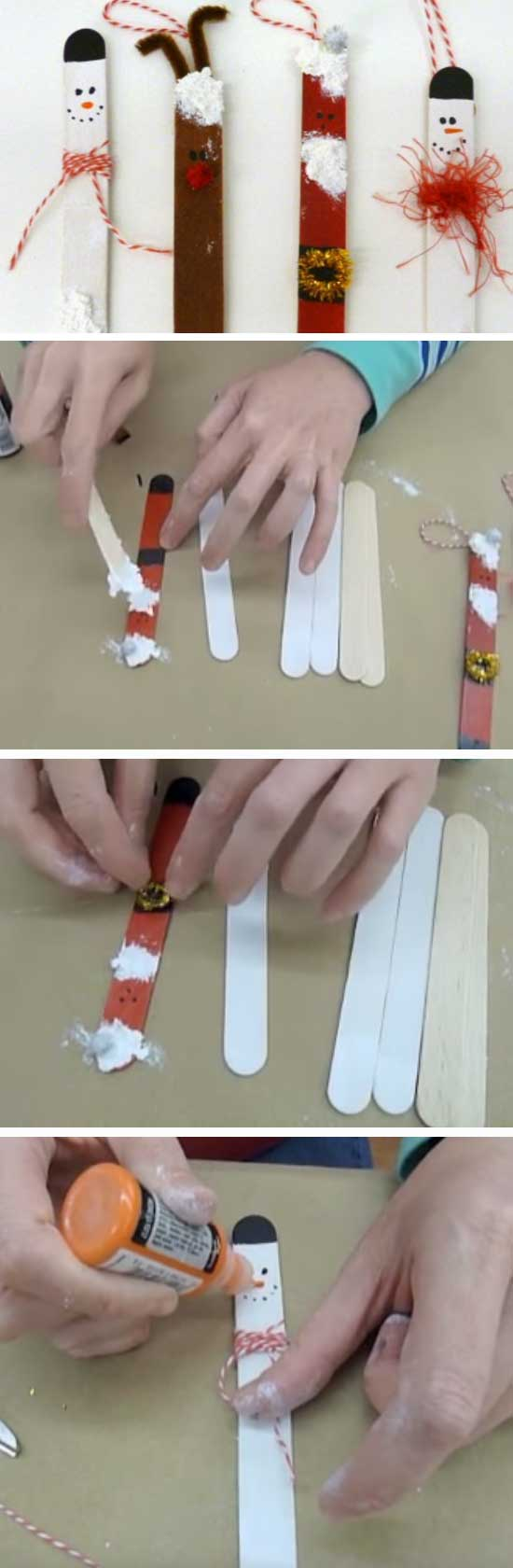 23 DIY Ideas and Tutorials to Recycle Popsicle Sticks for Christmas