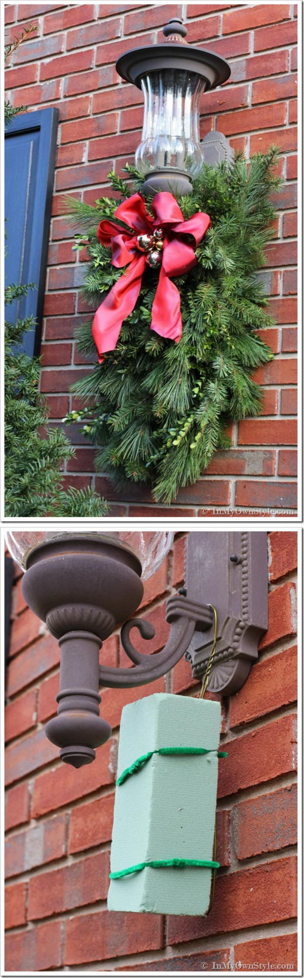 24 Amazing DIY Outdoor Christmas Decorating Ideas and Tutorials