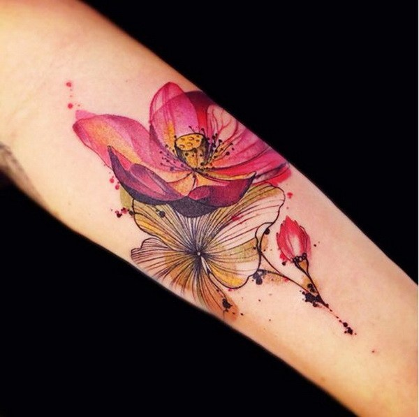 24 Cool Lotus Tattoo Design