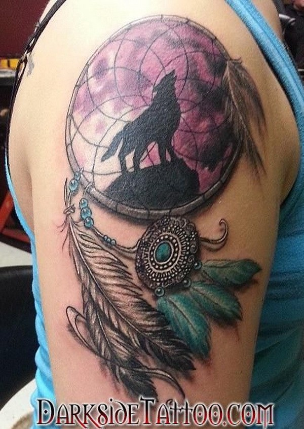 25 Arm dreamcatcher tattoo design