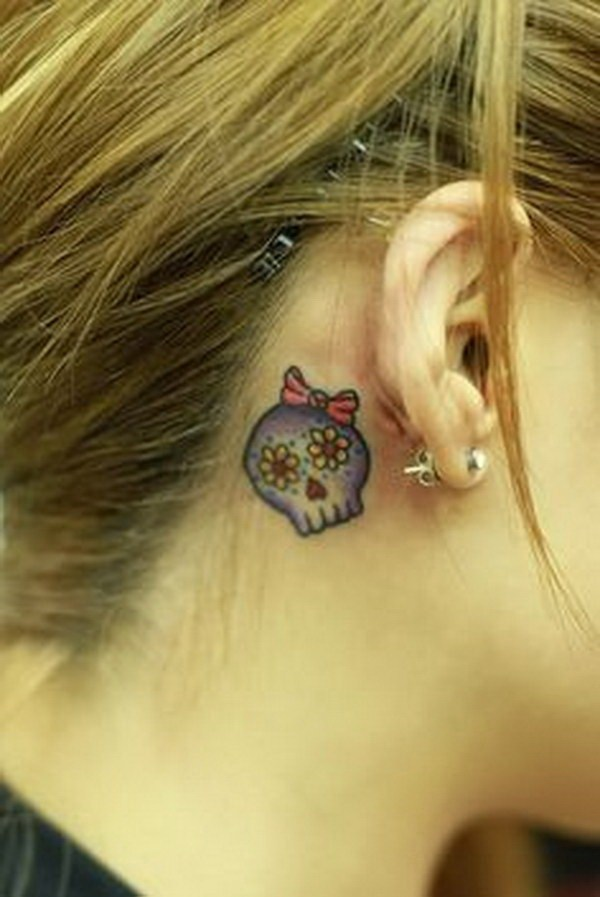 25 Sugar Skull Behind The Ear