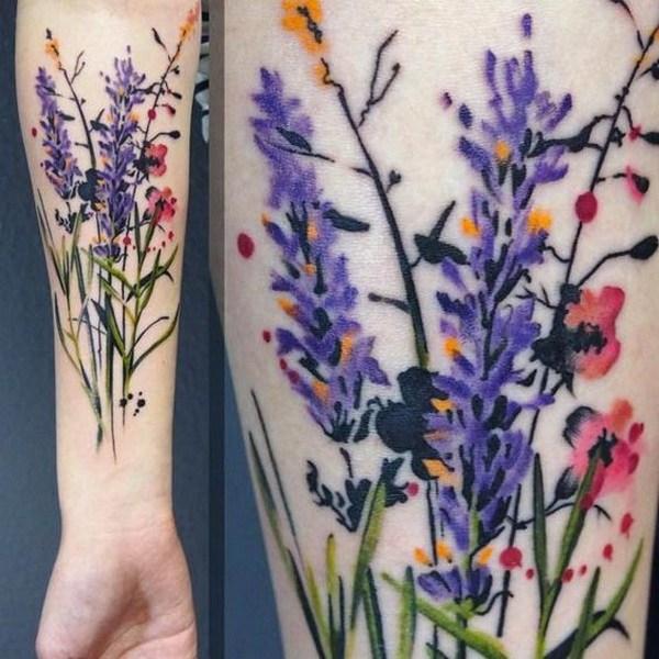25 Wild Flowers Tattoo Design