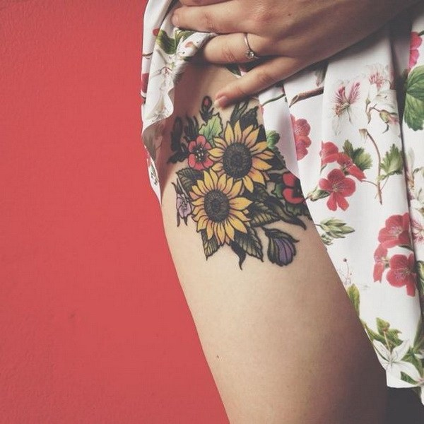 26 Bright Sunflower Tattoo