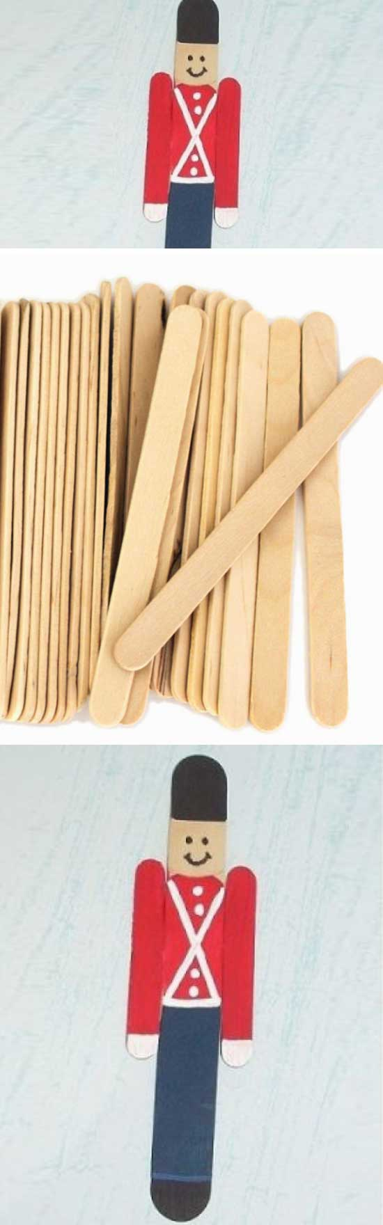 26 DIY Ideas and Tutorials to Recycle Popsicle Sticks for Christmas