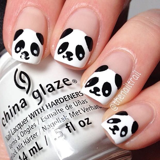 50 Best Black And White Nail Designs Page 27 Foliver Blog