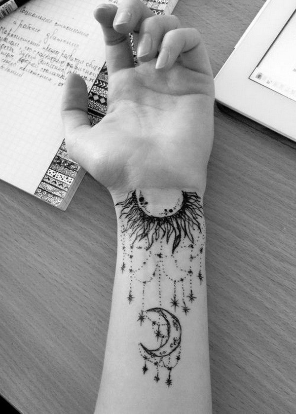 27 Intricate Arm Moon Tattoo with Designs