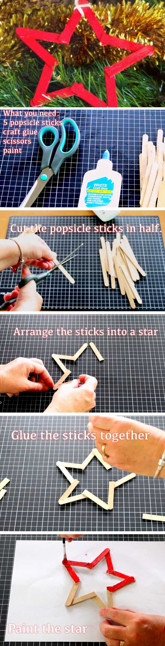29 DIY Ideas and Tutorials to Recycle Popsicle Sticks for Christmas