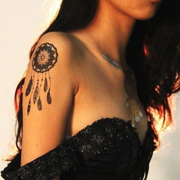 29 Mandala dream catcher tattoo design