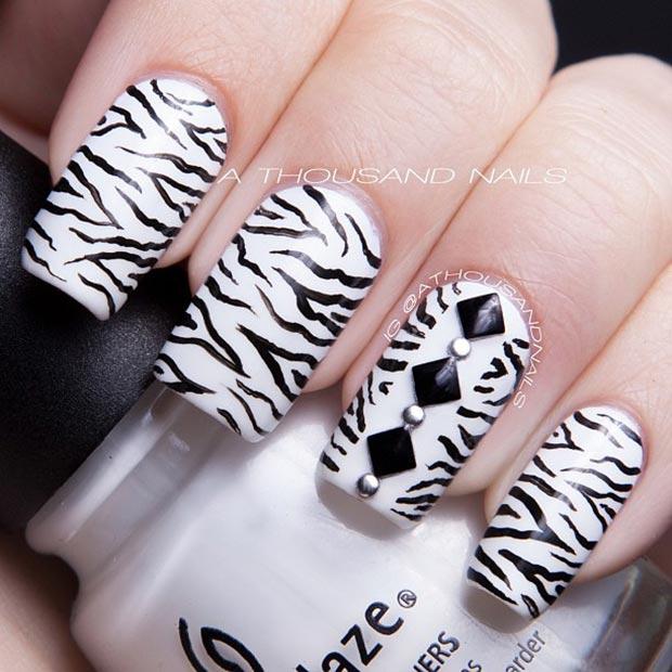 3 Zebra Nail Design