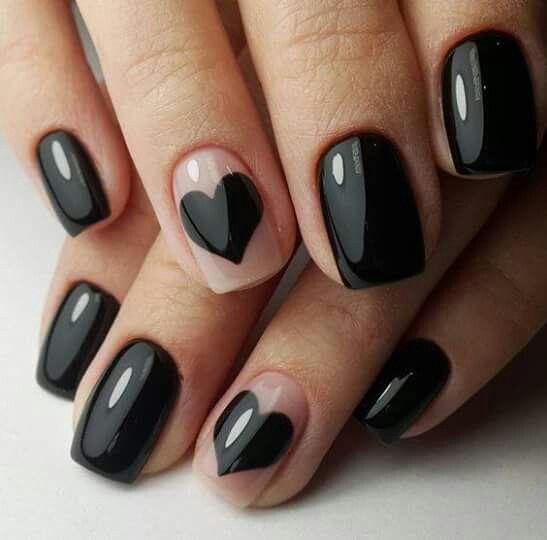 3 valentines nails