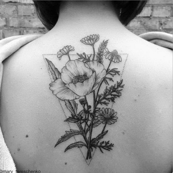 31 Colorless Floral Design on Back