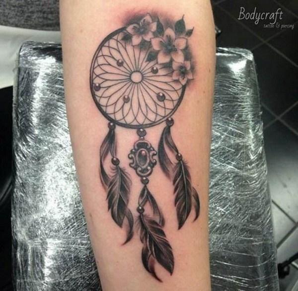 34 Vintage dreamcatcher tattoo design