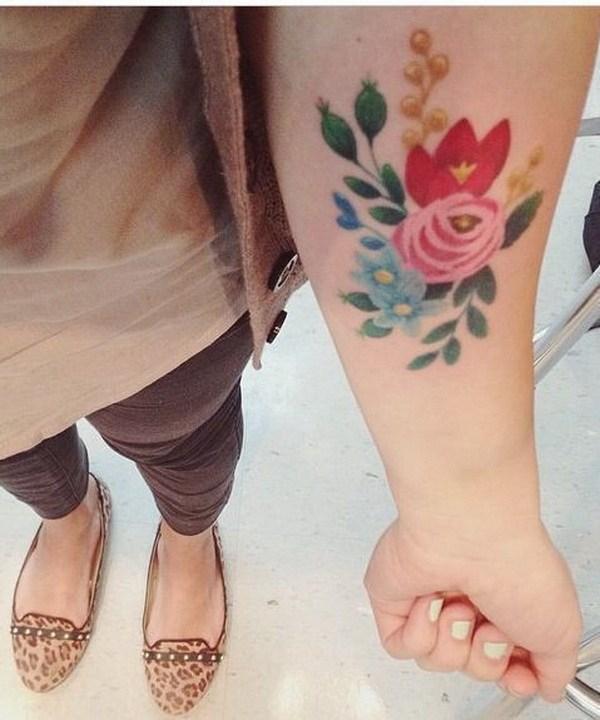 36 Vintage Floral Tattoo