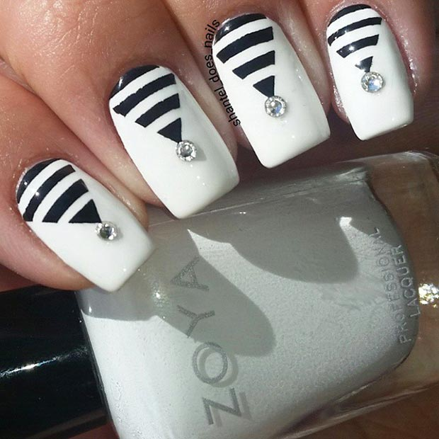 50 Best Black And White Nail Designs Page 37 Foliver Blog