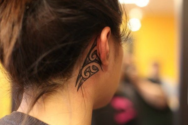 4 3D Tribal Ear Tattoo for Girls