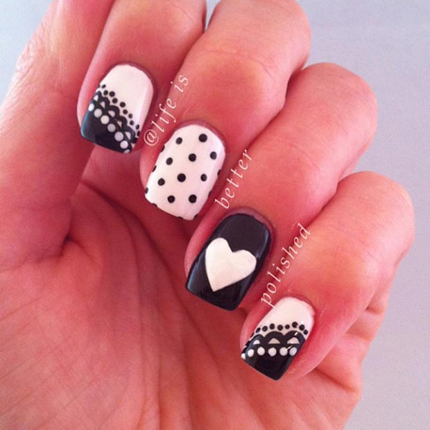 50 Best Black and White Nail Designs – Page 4 – Foliver blog