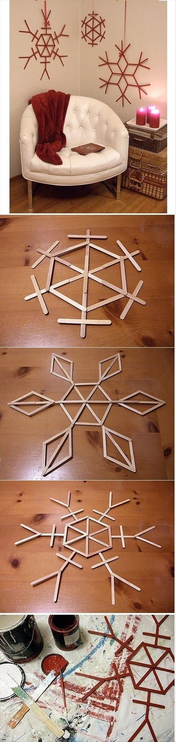 4 DIY Ideas and Tutorials to Recycle Popsicle Sticks for Christmas