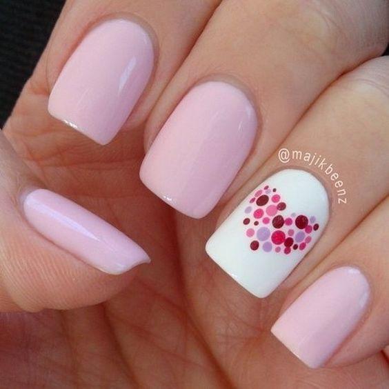 4 valentines nails