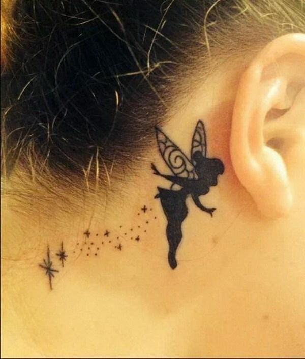 45 Tinker Bell Ear Tattoo Design