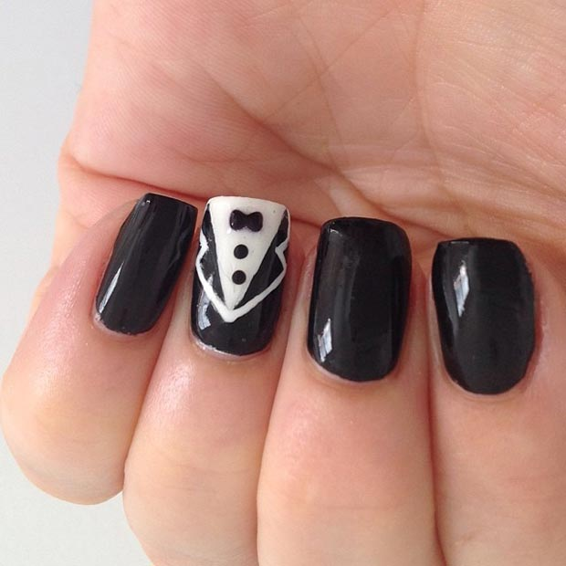 46 Suit and Tie Accent Nail