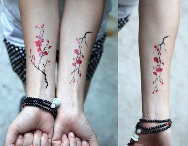 49 Cherry Blossom Tattoo Wrist for Sisters