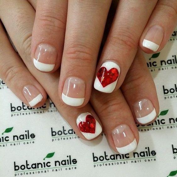 5 valentines nails