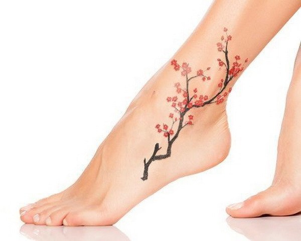 50 Cherry Blossom Tattoo for Women