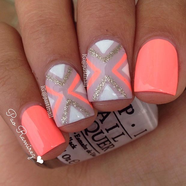 Cute Nail Designs With Hot Pink Papillon Day Spa