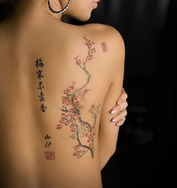 6 Cherry Flower Tattoo in Bud and Bloom