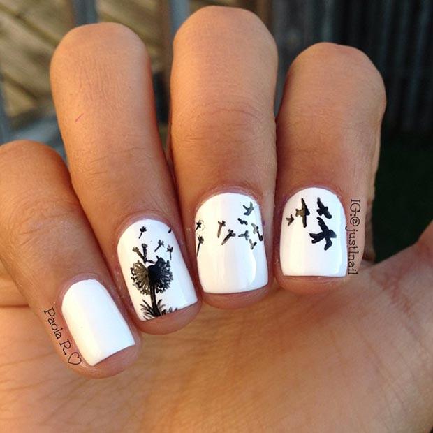 7 Dandelion Nail Design
