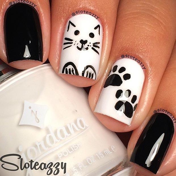 8 Cat Nail Design