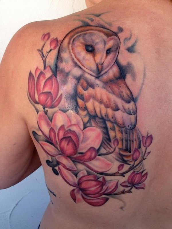 9 Barn Owl and Magnolias