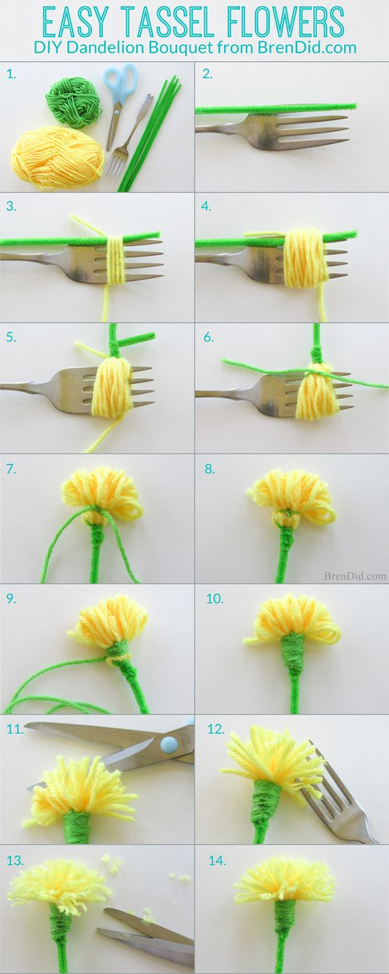 1 Awesome DIY Ideas and Tutorials Using Yarn