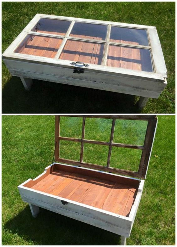 1 Awesome DIY Ideas  and  Tutorials to Repurpose Old Windows