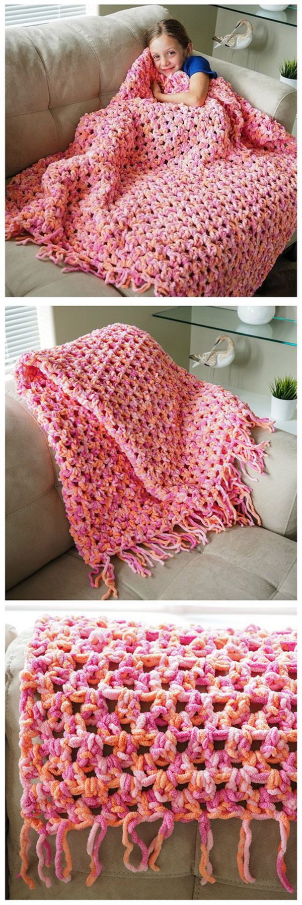 10 Beautiful Crochet Blankets with Free Patterns