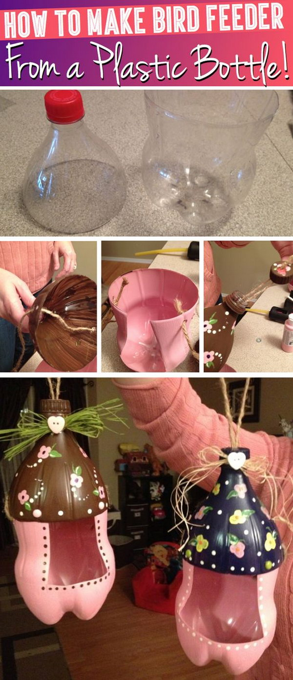 10 DIY Ideas  and  Tutorials To Recycle Plastic Bottles Into Useful Things