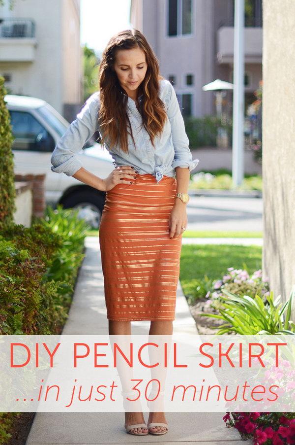 10 DIY Pencil Skirt Ideas  and  Tutorials