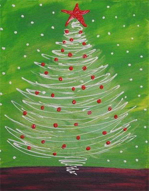12 Amazing Canvas Painting Ideas for Christmas
