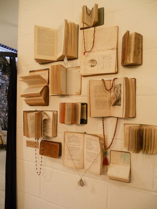 14 Cool DIY Projects Made With Old Books