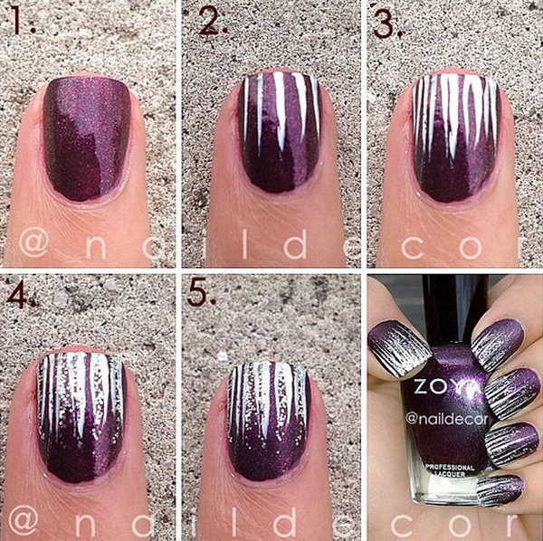 30 Easy and Fun Nail Art Tutorials – Page 15 – Foliver blog