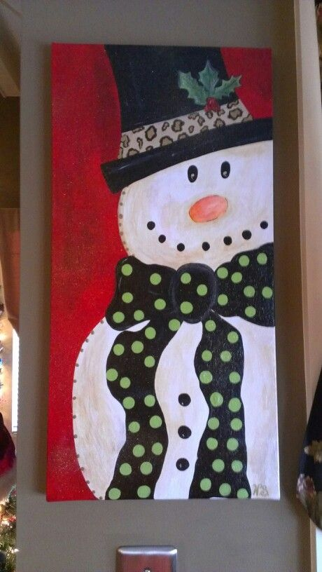 16 Amazing Canvas Painting Ideas for Christmas