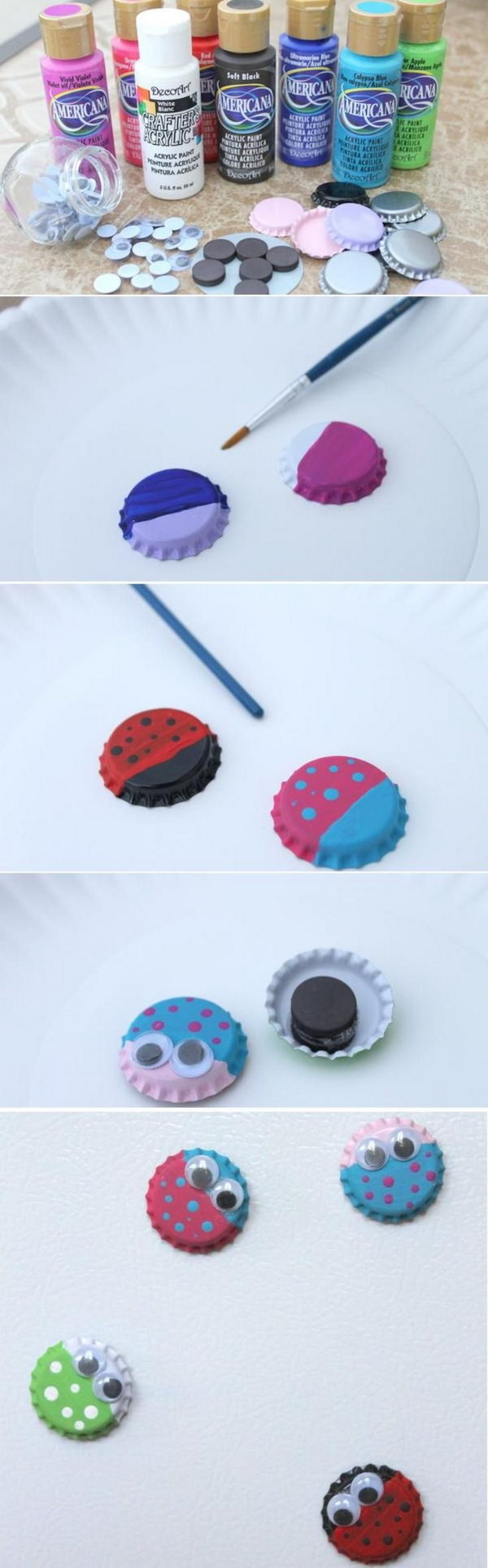 18 Awesome Ideas and Tutorials to Craft with Bottle Caps
