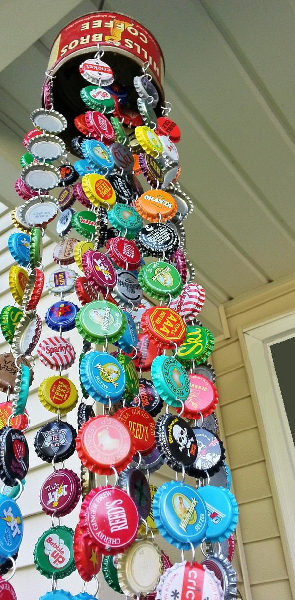 19 Awesome Ideas and Tutorials to Craft with Bottle Caps