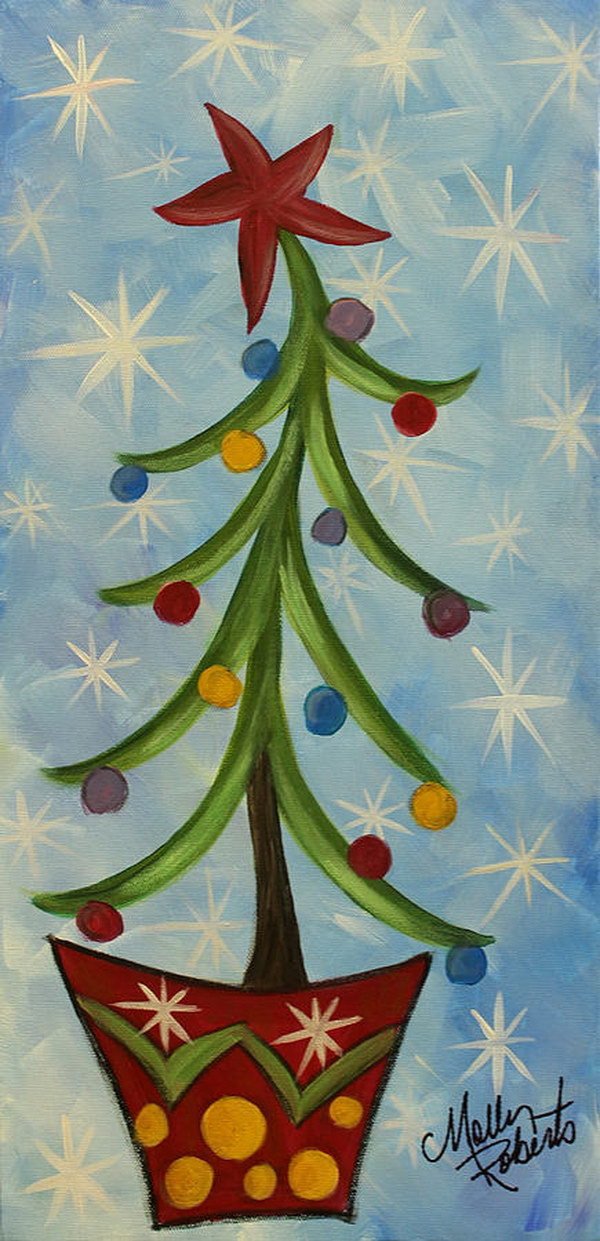 25 Amazing Canvas Painting Ideas for Christmas