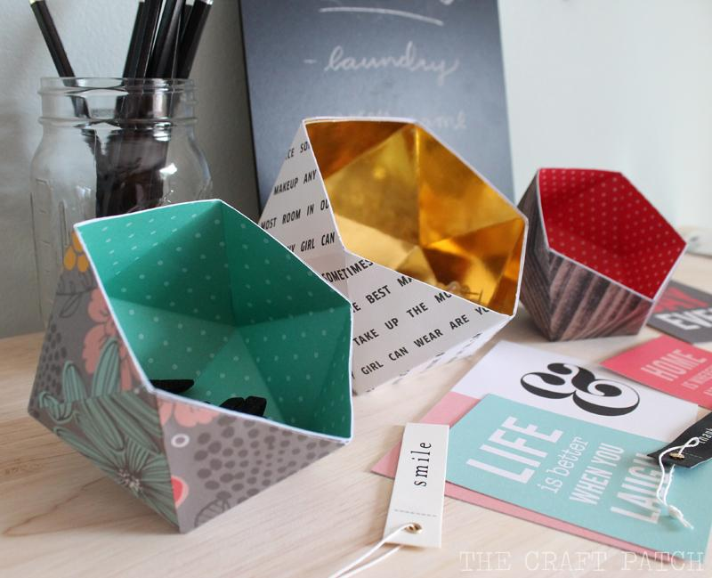 27 DIY Geometric Bowls From Paper