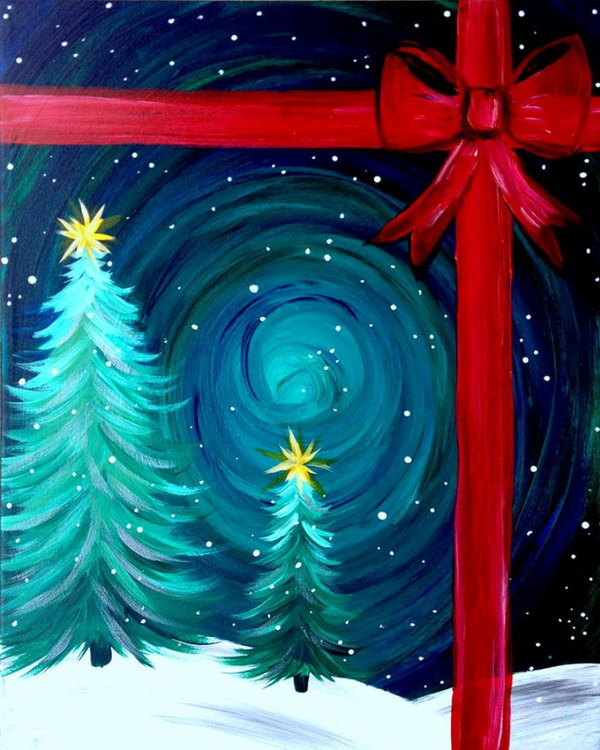 3 Amazing Canvas Painting Ideas for Christmas